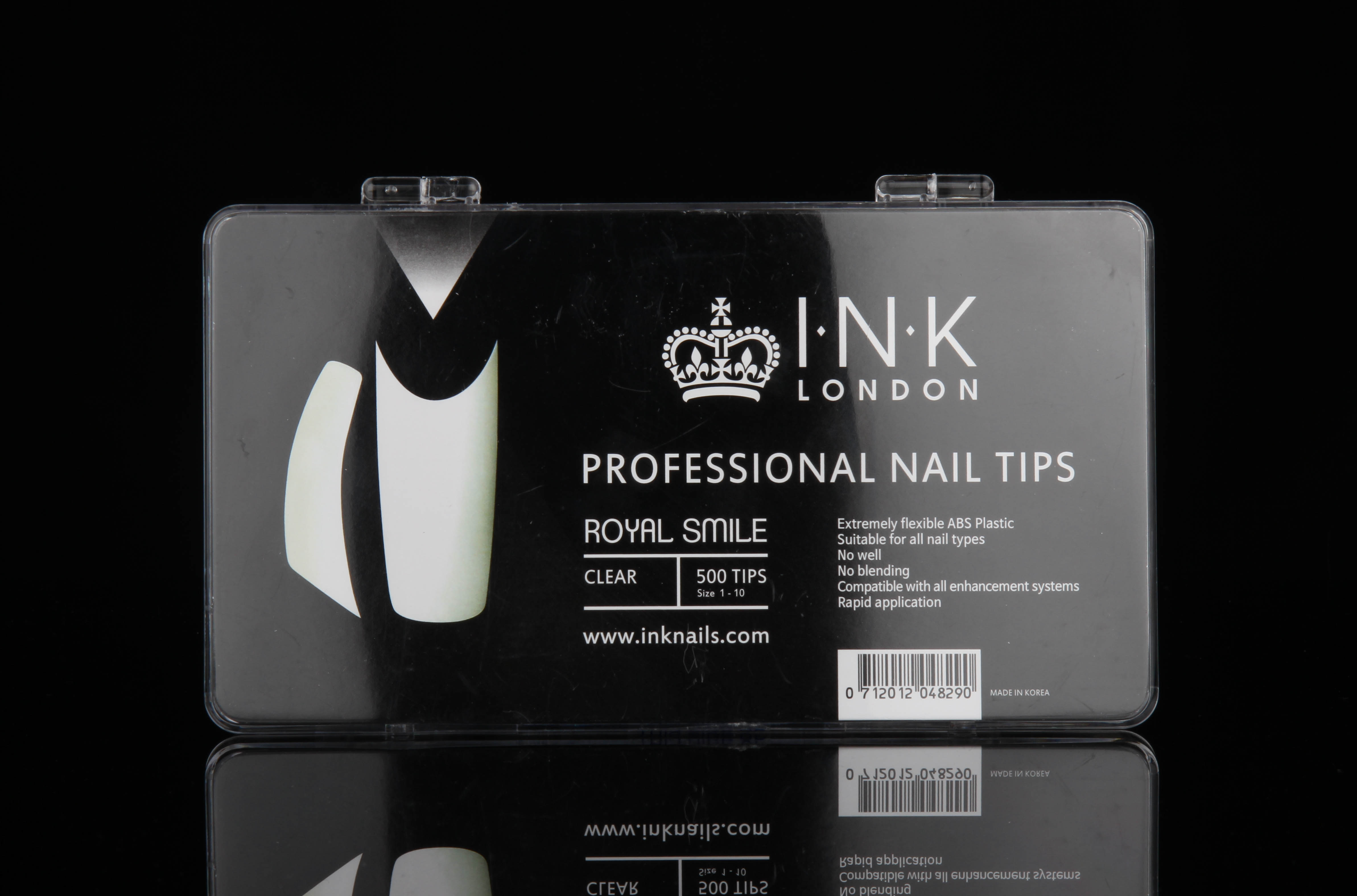 Royal Smile – Pro Nail Tips (CLEAR) – WELL-LESS (500) – Ink Nails